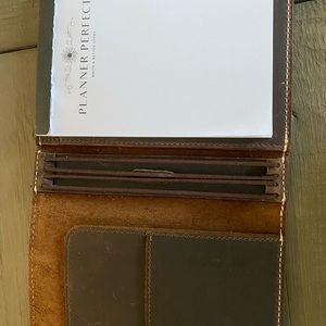 Planner Perfect Quinn Leather Notebook.